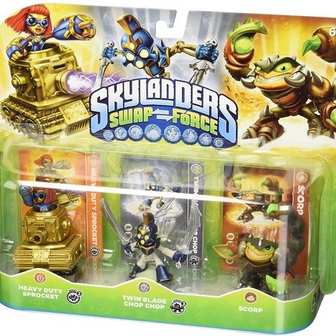 Skylanders Swap Force Triple Pack (Heavy Duty Sprocket/Twin Blade Chop Chop/Scorp)