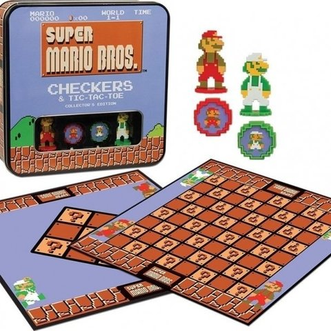Super Mario Bros Checkers & Tic-tac-toe Collectors Game Set