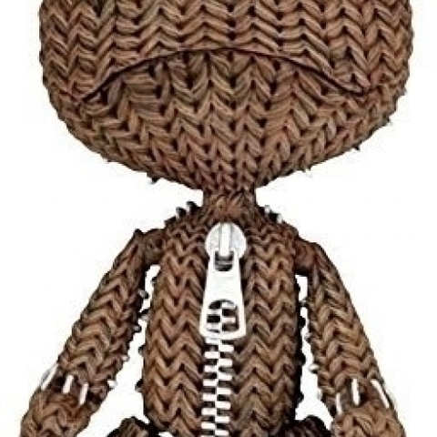 Little Big Planet Action Figure - Sad Sackboy