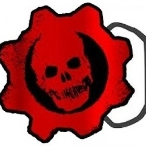 Gears of War Crimson Logo Belt Buckle