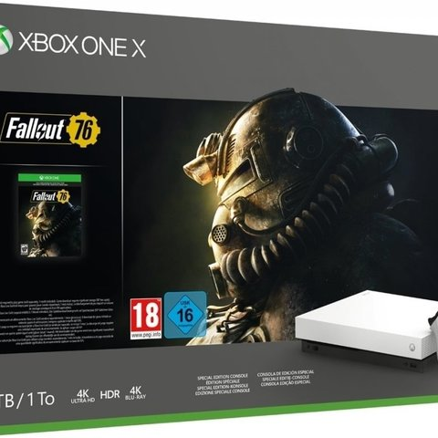 Xbox One X Console 1 TB + Fallout 76 (Robot White Special Edition)