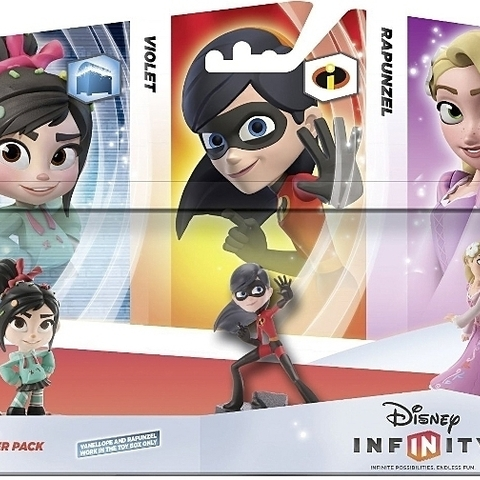 Disney Infinity Triple Pack Girl Power (Vanellope/Violet/Rapunzel)