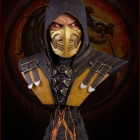 Mortal Kombat X: Scorpion Life-Sized Bust