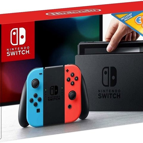 Nintendo Switch - Red/Blue + €35 E-Shop Tegoed