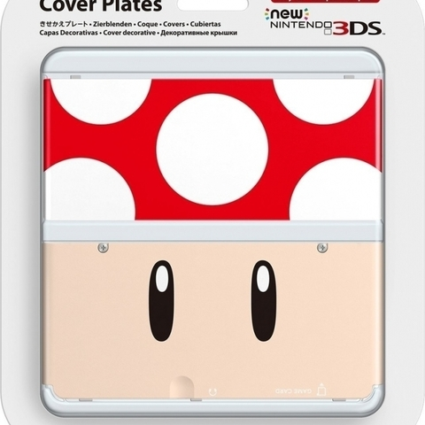 Cover Plate NEW Nintendo 3DS - Red Mushroom