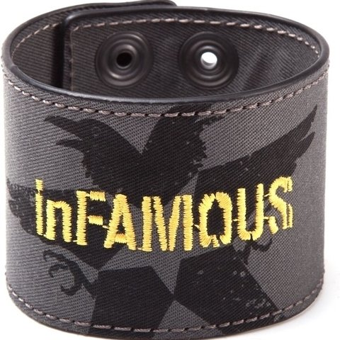 Infamous Second Son - Denim Logo Wristband