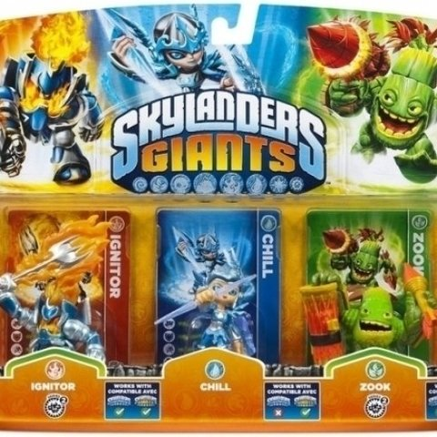 Skylanders Giants 3 Pack (Ignitor/Chill/Zook)