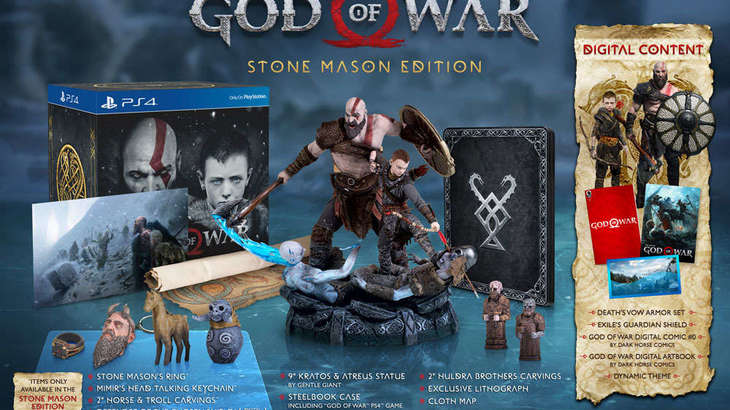 God Of War PS4's Stone Mason Edition Revealed, Comes With An Epic Statue Of Kratos And More