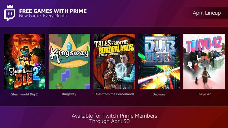 Twitch Prime free games for April include Steamworld Dig 2, Tales from the Borderlands, more