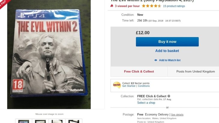 "Bethesda defends its legal threat against a man who tried to sell a ""new"", sealed copy of The Evil Within 2 on Amazon Marketplace"