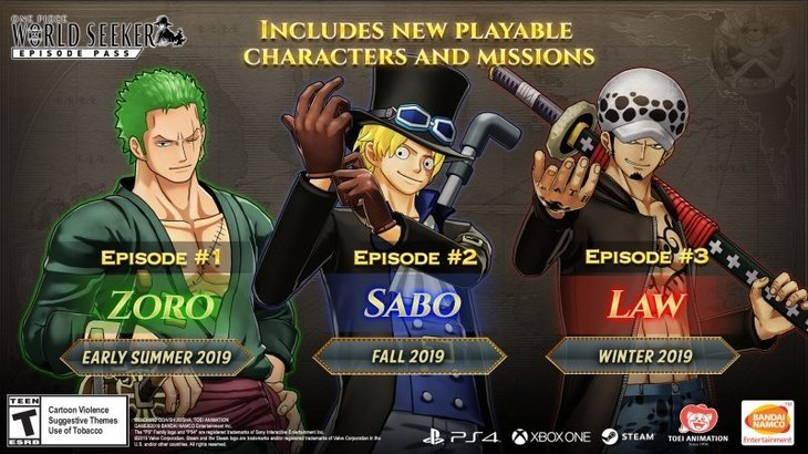One Piece: World Seeker Getting Two More DLC Featuring Sabo and Law